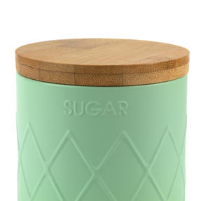 Salter BW07733S Embossed Round Canister for Sugar, Mint Green Thumbnail 5