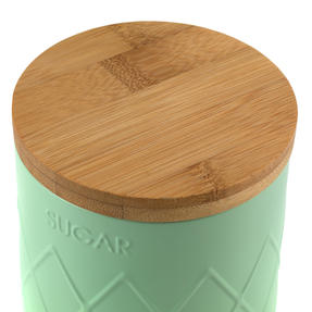 Salter BW07733S Embossed Round Canister for Sugar, Mint Green Thumbnail 6