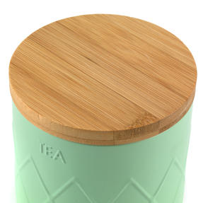 Salter BW07733T Embossed Round Canister for Tea, Mint Green Thumbnail 6