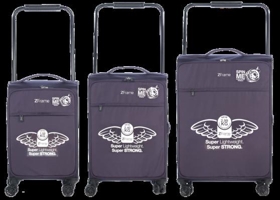"ZFrame 18"", 22"", 26"" 4 Double Wheel Suitcase 3 Piece Set Thumbnail 2"