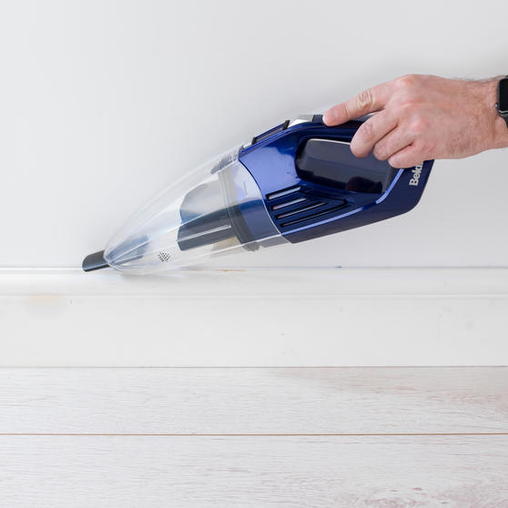 Beldray Cordless Rechargeable Wet and Dry Handheld Vacuum Cleaner,  0.5 L, 7.4 V, Blue Thumbnail 6