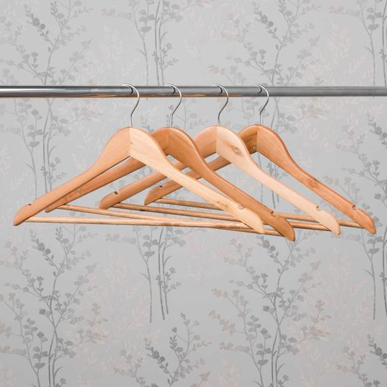 Beldray FSC Certified Wooden Hangers, Pack of Four Thumbnail 7
