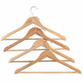 Beldray LA063557EU FSC Certified Wooden Hangers, Pack of Four Thumbnail 2