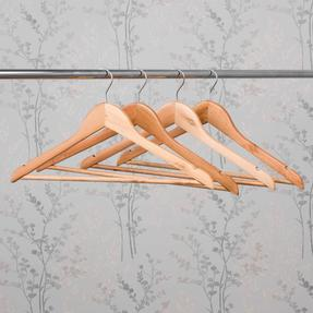 Beldray LA063557EU FSC Certified Wooden Hangers, Pack of Four Thumbnail 7