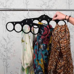 Beldray LA063816BLKEU Pack of Two Velvet Scarf Hanger, Black Thumbnail 7