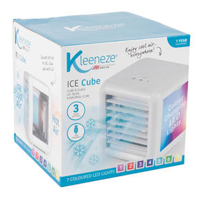 Kleeneze KL3139FSDUEU Ice Cube Mini Table Top Air Cooler, 600 ml, 5 W, White  Thumbnail 2