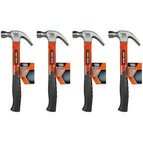 Black + Decker COMBO-4820 Soft Grip Claw Hammer, 450 g, Set of 4