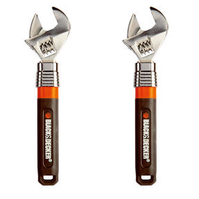 Black + Decker COMBO-4827 Extendable Adjustable Wrench, 250 mm, 10?, Set of 2