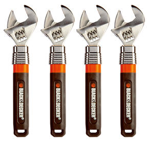 Black + Decker COMBO-4829 Extendable Adjustable Wrench, 250 mm, 10?, Set of 4