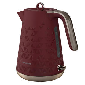 Morphy Richards 108253 Prism Kettle, 1.5 L, Merlot