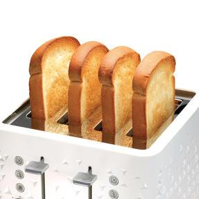 Morphy Richards 248110 4-Slice Prism Toaster, White Thumbnail 3