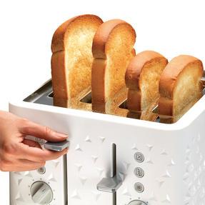 Morphy Richards 248110 4-Slice Prism Toaster, White Thumbnail 5