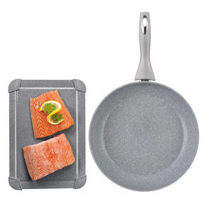 Salter COMBO-4866 Marble Collection Non-Stick 28 cm Frying Pan with Defrosting Tray, Grey | No Electricity, Microwave or Hot Water Required for Defrosting Thumbnail 1