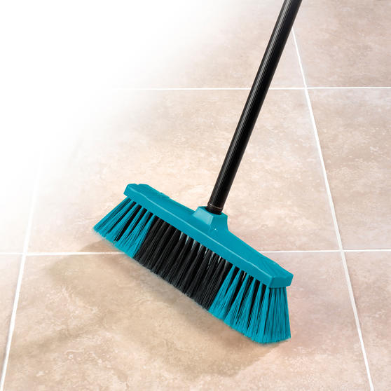 Beldray Tulip Cleaning Floor Brush Broom, 120 cm, Turquoise Thumbnail 3