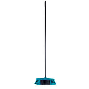 Beldray LA030474TQ Tulip Cleaning Floor Brush Broom, 120 cm, Turquoise