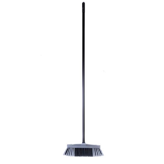 Beldray LA030474SIL Tulip Cleaning Floor Brush Broom, 120 cm, Grey