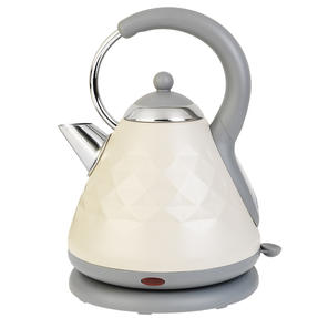 Salter EK2617CREAM 1.8 L Diamond Pyramid Kettle with 3kW Rapid Boil, Cream