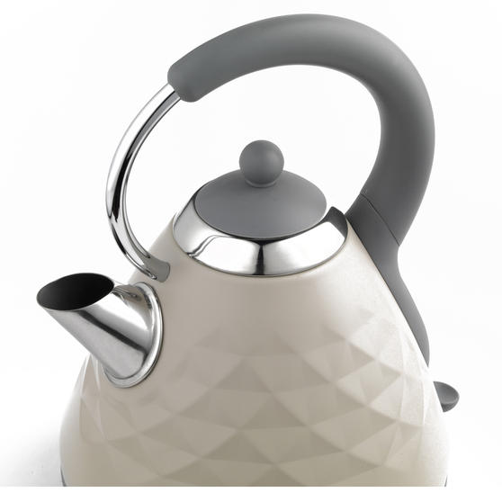 Salter EK2617 1.8 L Naturals Pyramid Kettle with 3kW Rapid Boil, Stone