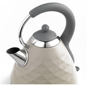 Salter EK2617 1.8 L Naturals Pyramid Kettle with 3kW Rapid Boil, Stone Thumbnail 1