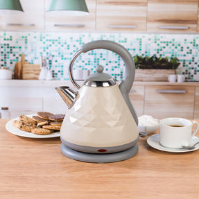 Salter EK2617 1.8 L Naturals Pyramid Kettle with 3kW Rapid Boil, Stone Thumbnail 6