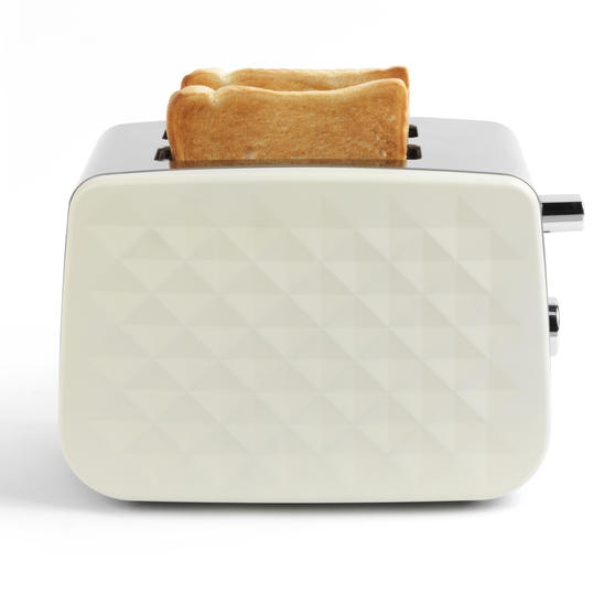 Salter EK2635CREAM Two-Slice Diamond Toaster with Variable Browning Control, 850