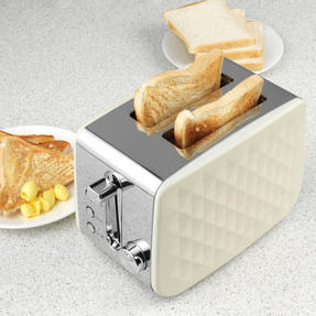 Salter EK2635CREAM Two-Slice Diamond Toaster with Variable Browning Control, 850 Thumbnail 5