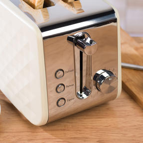 Salter EK2635CREAM Two-Slice Diamond Toaster with Variable Browning Control, 850 Thumbnail 7
