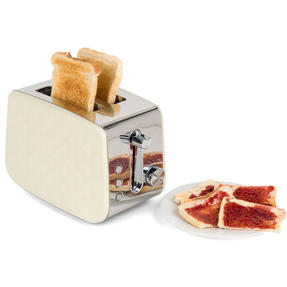 Salter EK2635CREAM Two-Slice Diamond Toaster with Variable Browning Control, 850 Thumbnail 10