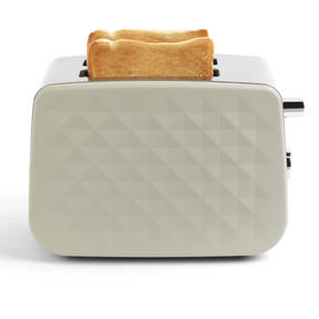Salter EK2635GREY Two-Slice Diamond Toaster with Variable Browning Control, 850 W, Grey Thumbnail 1
