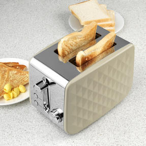 Salter EK2635GREY Two-Slice Diamond Toaster with Variable Browning, 850 W, Grey Thumbnail 3
