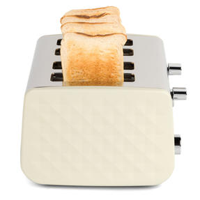 Salter EK3509CREAM 4-Slice Diamond Toaster with Variable Browning, 1850 W, Cream Thumbnail 10