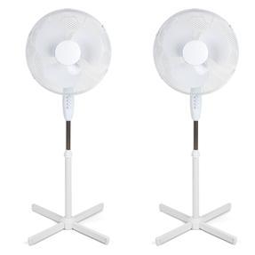 Beldray COMBO-4335 16 Inch Pedestal Fan with Adjustable Head, 50 W, Set of 2