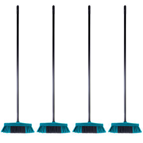 Beldray COMBO-4876 Tulip Cleaning Floor Brush Broom, Turquoise, Set of 4