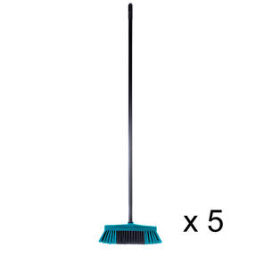 Beldray COMBO-4877 Tulip Cleaning Floor Brush Broom, Turquoise, Set of 5