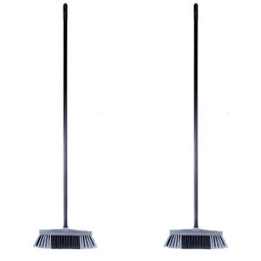 Beldray COMBO-4879 Tulip Cleaning Floor Brush Broom, Silver, Set of 2