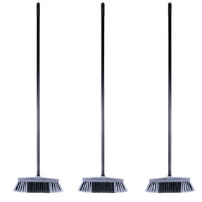 Beldray COMBO-4880 Tulip Cleaning Floor Brush Broom, Silver, Set of 3