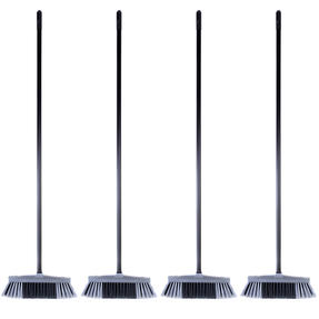Beldray COMBO-4881 Tulip Cleaning Floor Brush Broom, Silver, Set of 4