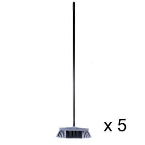 Beldray COMBO-4882 Tulip Cleaning Floor Brush Broom, Silver, Set of 5