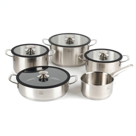 Peugeot COMBO-4731 Stainless Steel Kitchen Cookware, 5 Piece Set