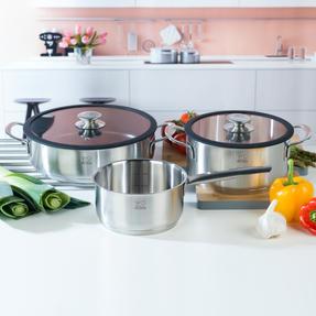 Peugeot COMBO-4733 Stainless Steel 16/26 cm Sauté Pans and 20 cm Cooking Pot Set, 3 Piece Thumbnail 2