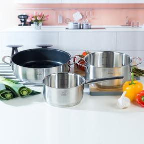 Peugeot COMBO-4733 Stainless Steel 16/26 cm Sauté Pans and 20 cm Cooking Pot Set, 3 Piece Thumbnail 3