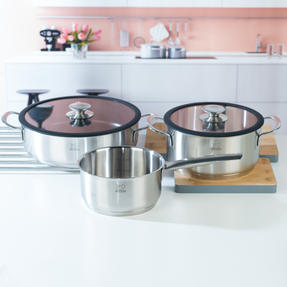 Peugeot COMBO-4733 Stainless Steel 16/26 cm Sauté Pans and 20 cm Cooking Pot Set, 3 Piece Thumbnail 4
