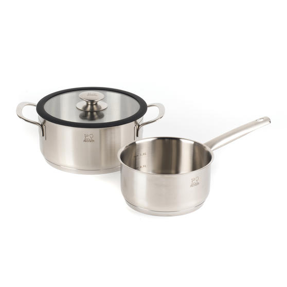 Peugeot COMBO-4737 Stainless Steel Sauté Pan and Cooking Pot Set, 2 Piece, 16/20 cm