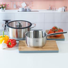 Peugeot COMBO-4737 Stainless Steel Sauté Pan and Cooking Pot Set, 2 Piece, 16/20 cm Thumbnail 2