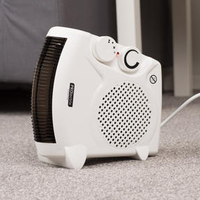Prolectrix EH0569SPROSTK Portable Flat Fan Heater and Cooler, 2000 W, White Thumbnail 10