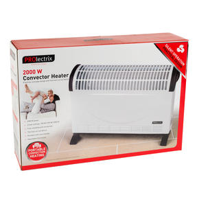 Prolectrix EH3018SPROSTK Electric Portable Convector Heater, 2000 W, White Thumbnail 12