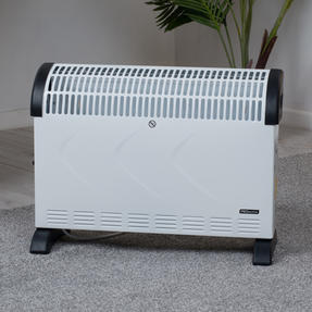 Prolectrix EH3018SPROSTK Electric Portable Convector Heater, 2000 W, White Thumbnail 2