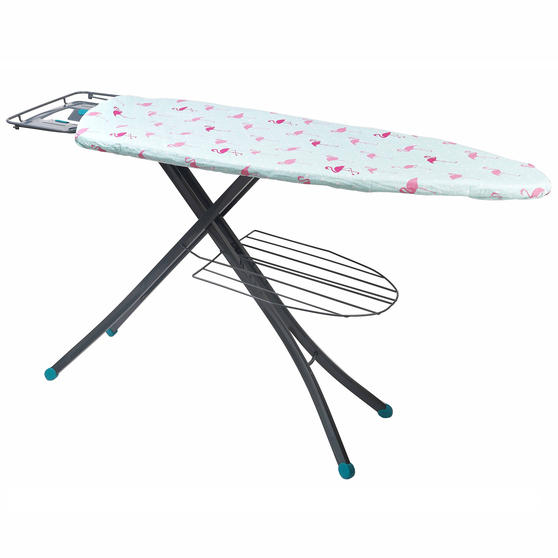 Beldray Large Reversible Ironing Board Replacement Cover, 137 x 45 cm, Flamingo/Diamond Thumbnail 1
