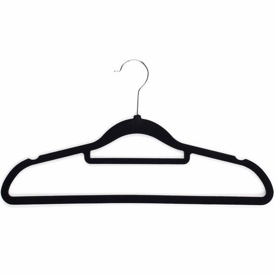 Beldray 10 Pack Premium Velvet Clothes Hangers, Black Thumbnail 3