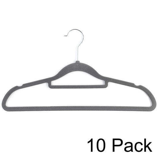 Beldray LA063717GRYEU 10 Pack Premium Velvet Clothes Hangers, Grey
